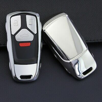Red Tukellen for Audi Key Fob Cover with Keychain Special Soft TPU Key Case Cover Protector Compatible with Audi A4 Q7 Q5 TT A3 A6 SQ5 SQ7 R8 S5 Smart Key