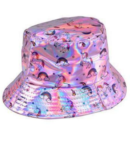 Bucket Hat Canvas Waterproof Festival Colourful Holographic Metallic Shimmer