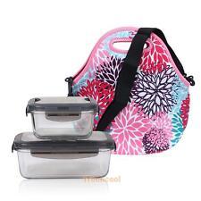 Portable Neoprene Food Bag Travel Insulated Lunch Tote Cooler Bag Picnic Handbag