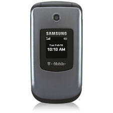 Samsung SGH-T139 Flip Cell Phone T-MOBILE GSM Camera Bluetooth Speakerphone Gray