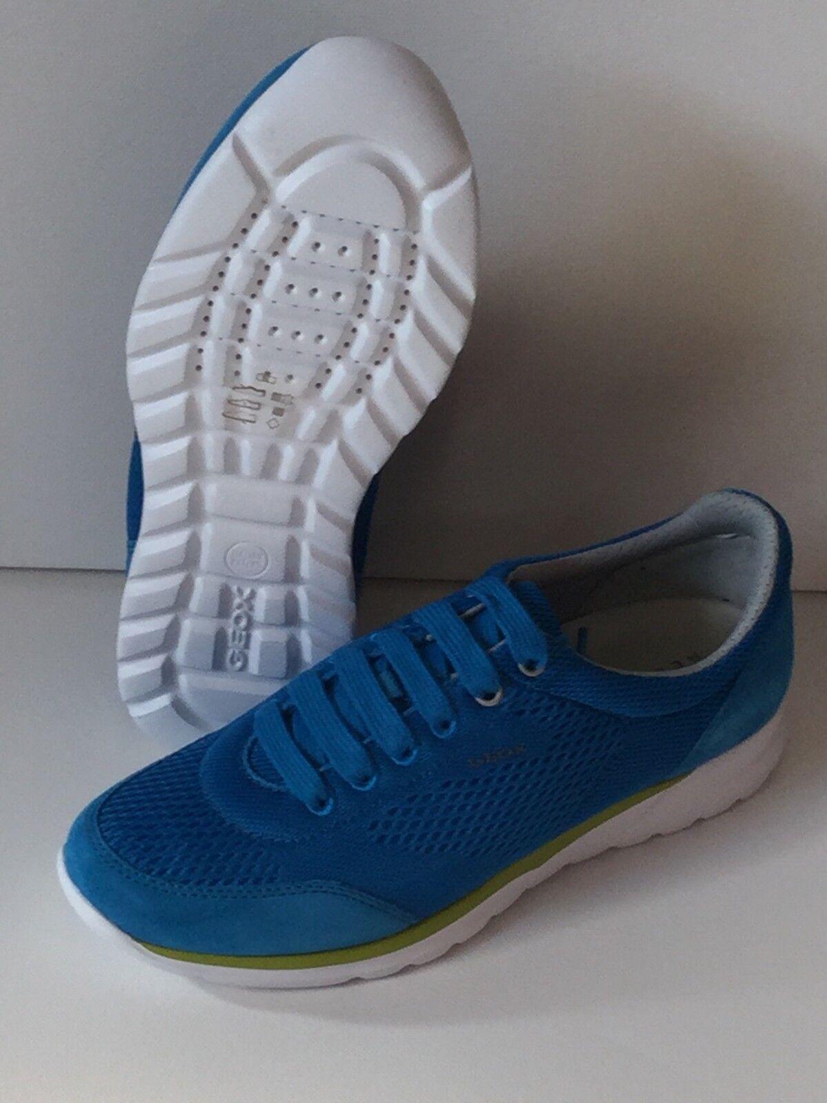 Geox Respira U Damian B  Schuhe Turnschuhe  Leder Sneaker 41 42 43 44 45 46  azu