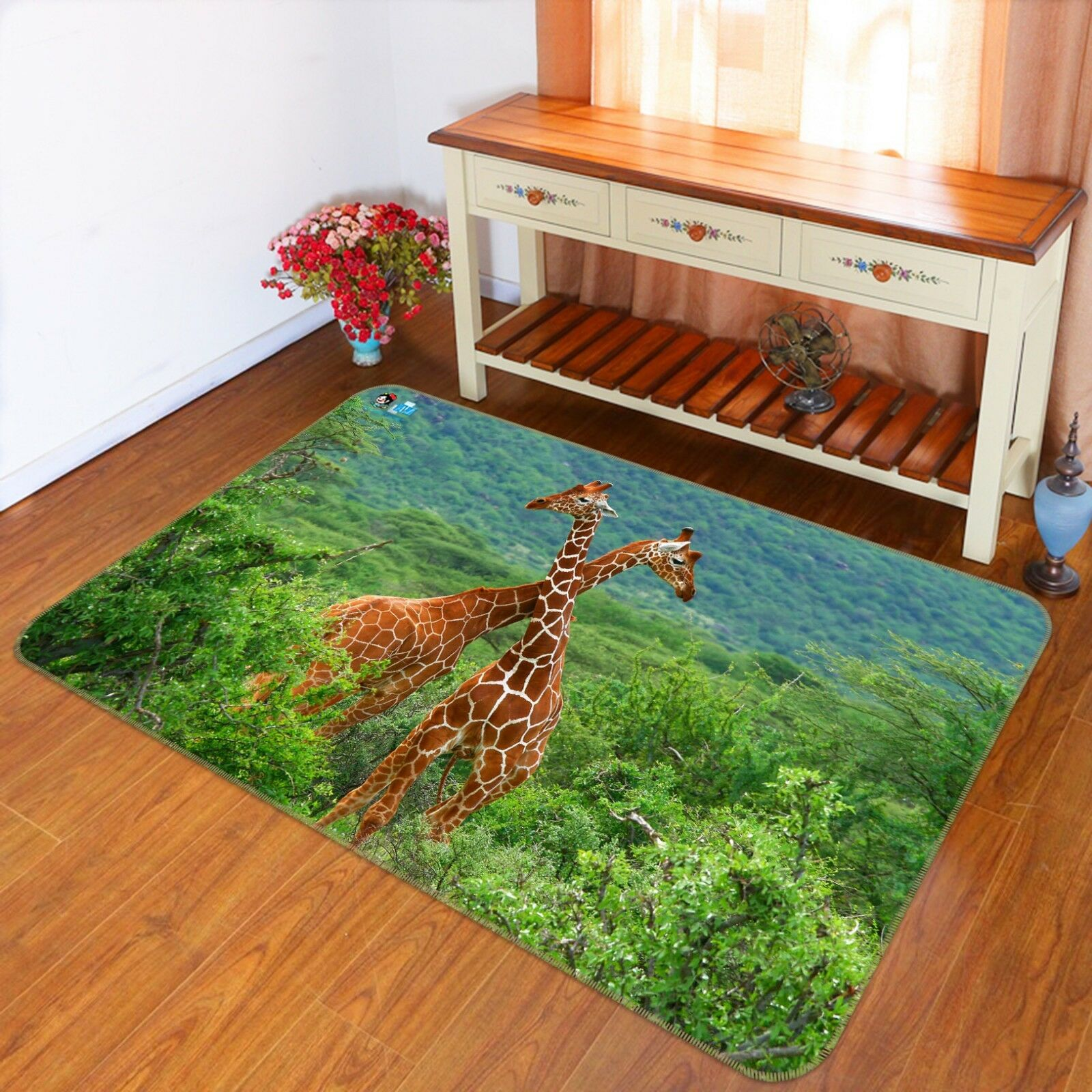 3D Forest Giraffe 790 Non Slip Rug Mat Room Mat Quality Elegant Photo Carpet AU