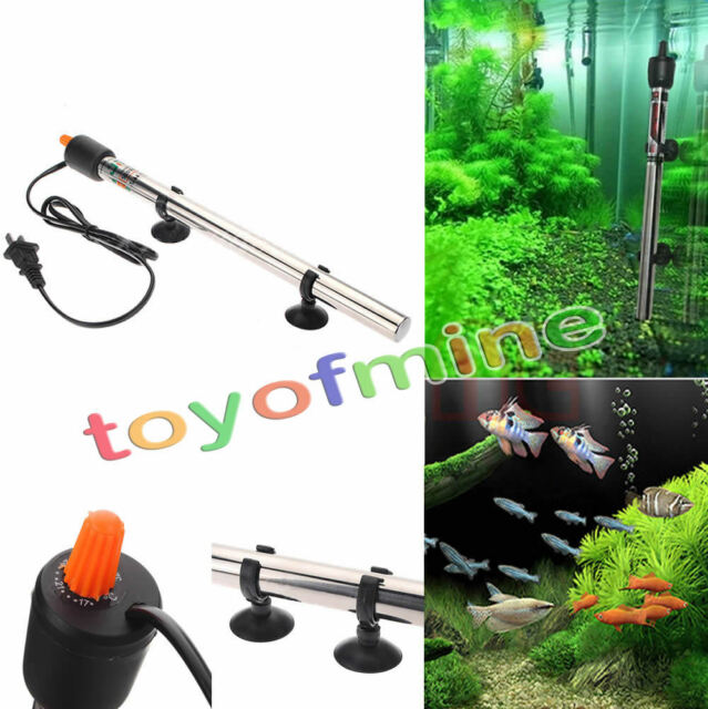 500W Submersible Water Stainless Steel Heater Heating Rod for Aquarium Fish Tank