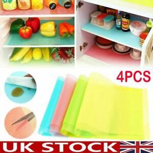 4x Antibacterial Drawer Cabinet Pad Fridge Liner Mat No Slip Kitchen Board Cover
