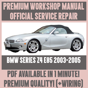 workshop manual service repair guide for bmw z4 e85 2003 2005 rh ebay com 2003 BMW Z4 Wiring-Diagram BMW Wiring Harness Diagram