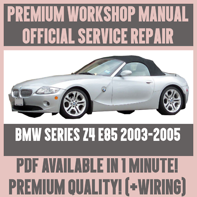[DIAGRAM_38IU]  WORKSHOP MANUAL SERVICE & REPAIR GUIDE for BMW Z4 E85 2003-2005 +WIRING  DIAGRAM | eBay | 2004 Bmw Z4 Wiring Diagram |  | eBay