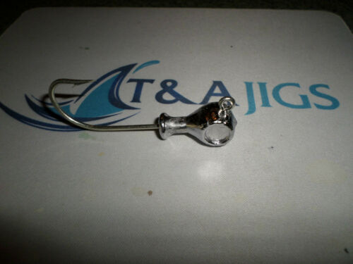 10 Cobia Jig Heads T/&A JIGS Weight+Color Choice Striper Grouper Snook
