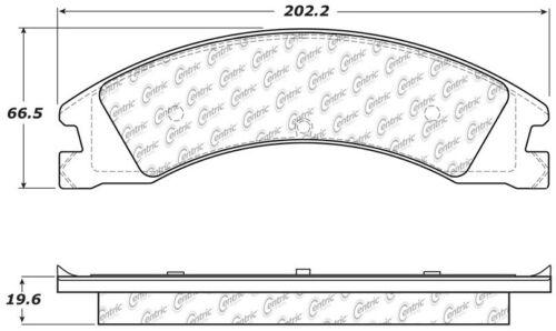 Disc Brake Pad Set Rear Centric 106.13301 fits 12-19 Ford E-450 Super Duty