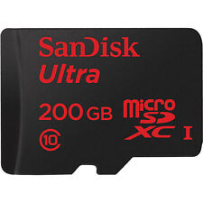 200GB Sandisk Ultra microSDXC Class 10 UHS-I with Fulll-Size SD Adapter