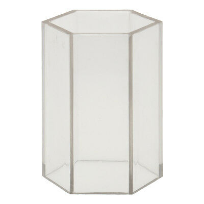 Hexagon Shape Plastic Clear Candle Mould Soap Mold Candle Making 5x10.2cm