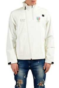 c54bfb6d3790b2 Emporio Armani EA7   034 Italia Team  034  Men  039 s White Full Zip ...