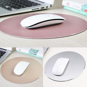 220mm-Round-Aluminum-Alloy-Mouse-Pad-Mousepad-Game-Mat-W-Non-slip-Rubber-Base