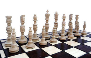 échec Grand Noble Jeu d'échecs GALANT échiquier 58 x 58 cm, KH 140 mm, bois