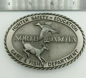 Missing-Clip-North-Dakota-Hunter-Safety-Education-Game-amp-Fish-Belt-Buckle