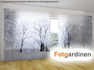 Schiebegardinen mit Foto auf Maß Fotogardine Winterpark Schiebevorhang