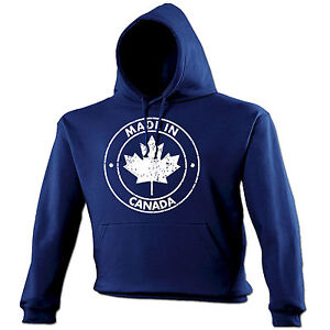 Details about Made In Canada HOODIE Canadian Patriot Nation Toronto Top  Funny Gift Birthday