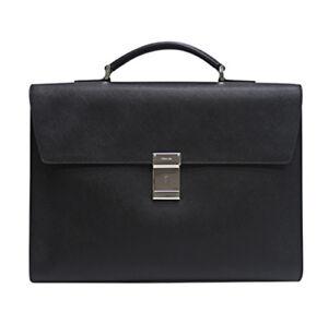 6e924eb2983e Image is loading PRADA-SAFFIANO-Mens-Calf-Leather-Briefcase-Document-Bag-