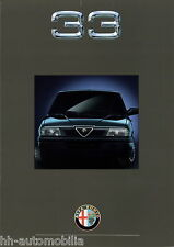 Prospekt Alfa 33 Drucknummer 909-866 Autoprospekt Broschüre brochure Auto PKWs