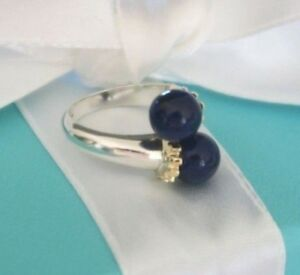 3dfc506a9 Tiffany & Co. Blue Lapis Lazuli Silver Gold 750 Bypass Ring Est RRP ...