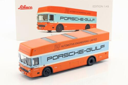 Mercedes-Benz o 317 Porsche Gulf Transportador de Carrera Año 1968 1:43 schuco