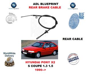 For hyundai pony x2 s coupe 13 15 1990 adl blueprint rear image is loading for hyundai pony x2 s coupe 1 3 malvernweather Choice Image