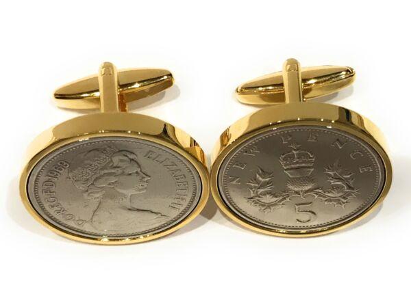 Gastfreundlich Premium 1969 Groß Alt Stil 5p Münze Für Ein 50th Gold Stil Manschettenknöpfe Hoher Standard In QualitäT Und Hygiene