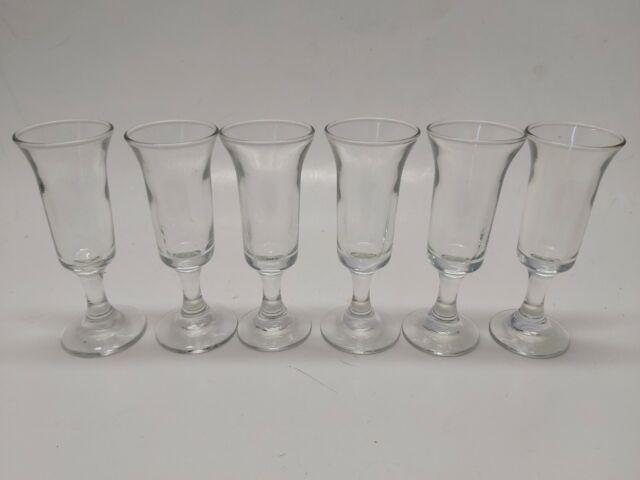 Vintage Stemmed Cordial Shot Shooter Glasses - Set of 6