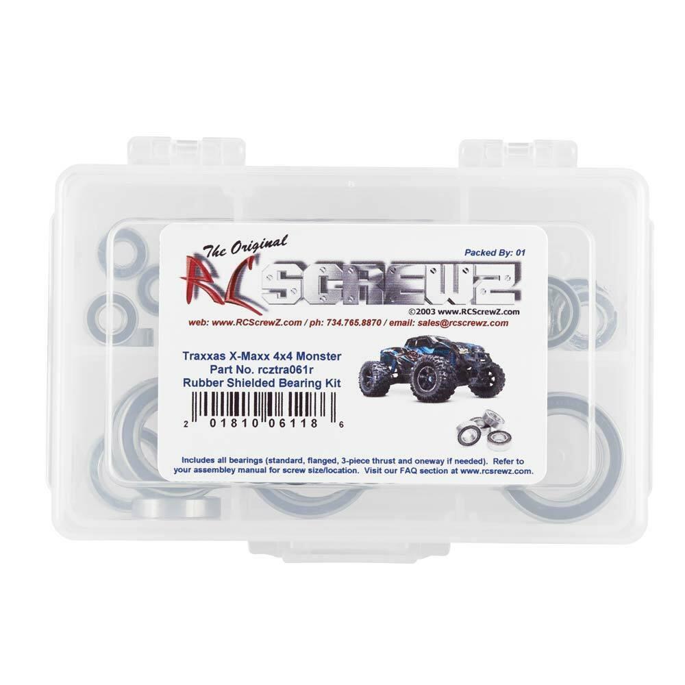 NEW RC Screwz TRA061R Rubber Shielded Bearing Kit Traxxas X-Maxx FREE US SHIP