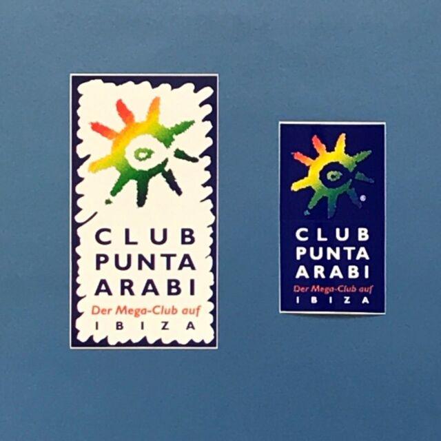 * IBIZA 2019 * 2 PUNTA ARABI IBIZA CLUB Aufkleber Sticker * neu und selten !