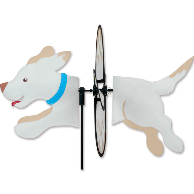 Yellow Lab Dog Staked Petite Wind Spinner PR 25068