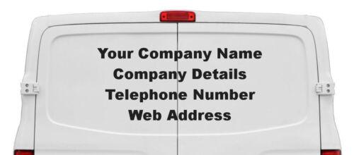 Personalised Rear Window Car or Van Vinyl Stickers