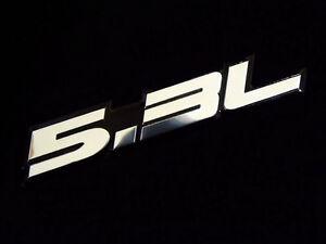 Chrome Black 5.3L 5.3 L for Engine Fender Trunk Lid Emblem Decal Badge Sticker