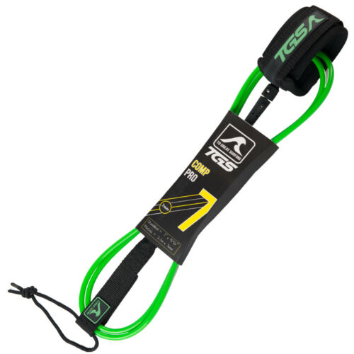 7 ft with Double Stainless Steel Swivels Green TGS Superior Surf Leash