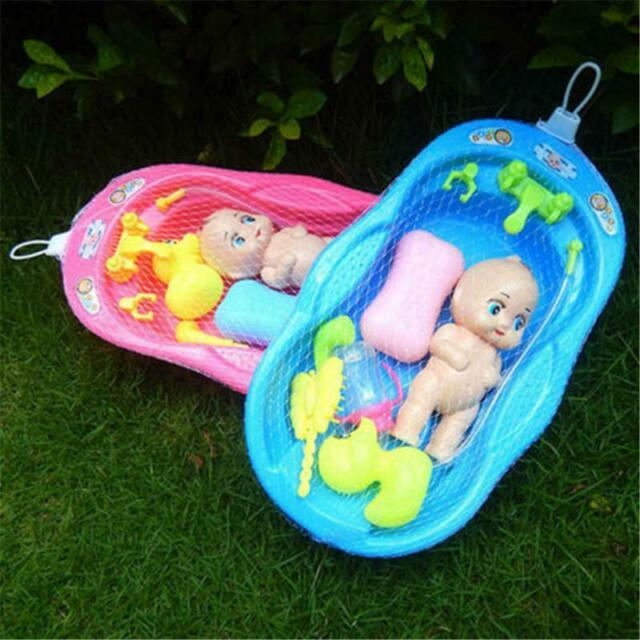 Bathtub With Baby Doll Bath Toy For Child Water Floating Toys Early Educational