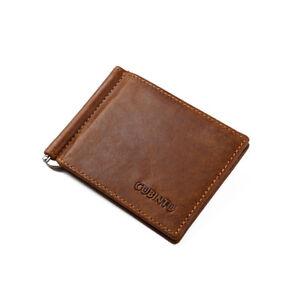 Men-Genuine-Leather-Bifold-Purse-Billfold-Wallet-Money-Clip-Slim-Wallets-Purses