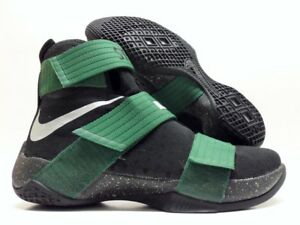 c47b2669e9a NIKE LEBRON SOLDIER 10 ID BLACK GREEN-METALLIC SILVER SIZE MEN S 9 ...