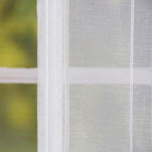 Raffrollo Rollo Schlaufen weiß transparent mit Streifen 120x140cm | eBay