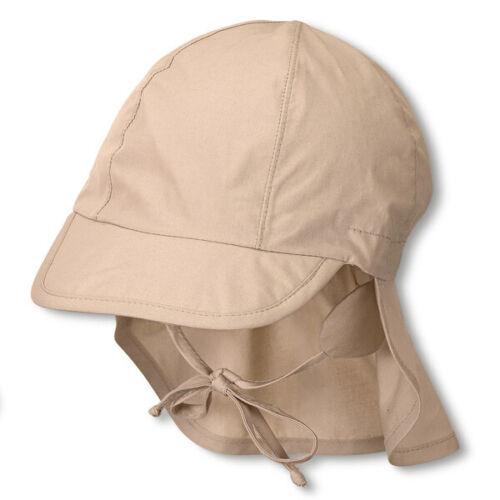 beige Gr Sterntaler Schirmmütze Sonnenhut mit Nackenschutz #19170 53 921