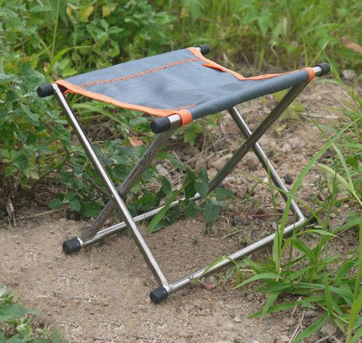 Taburete Plegable Ultraligero Tito GR9 Titanio Pesca Silla Asiento Camping Barbacoa