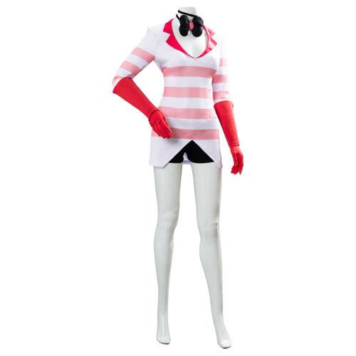Details about  /Hazbin Hotel Cosplay Costume Outfit Stripe Shirt Uniform