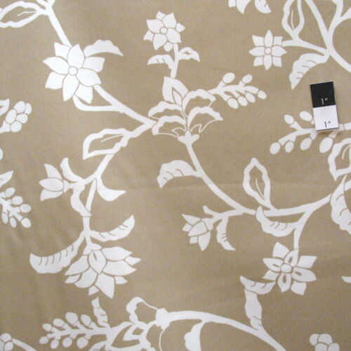 Vicki Payne For Your Home Crewel Taupe Cotton HOME DECOR Fabric By Yd