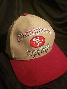SUPER BOWL XXIX SAN FRANCISCO 49ERS HAT CAP 29 STEVE YOUNG NFL LOGO ... bfd50c0d5