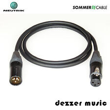 1m XLR Digital-Kabel BINARY Neutrik Gold/ AES/EBU 110 Ohm Sommer Cable/ HIGH END