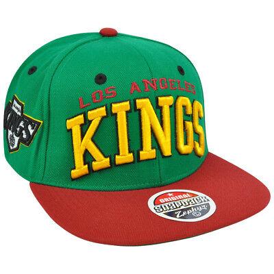 Gutherzig Nhl Lnh Los Angeles Kings Grün Super Star 32/5 Flat Zephyr Snapback Mütze Kappe Sport