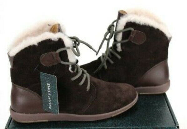EMU AUSTRALIA WOMEN'S WINTON CASUAL BOOTS COW SUEDE CHOCOLATE 8 8 8 M US 692257