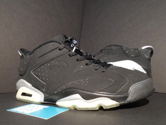 2002 Nike Air Jordan VI 6 Retro Low CHROME BLACK METALLIC SILVER 304401-061 10.5