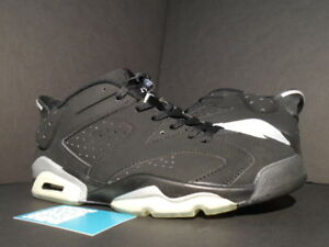 2af72c32a536a9 2002 Nike Air Jordan VI 6 Retro Low CHROME BLACK METALLIC SILVER ...