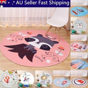 Cartoon-Children-Animal-Round-Floor-Mat-Kids-Bedroom-Carpet-Living-Room-Area-Rug