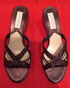 New-Michael-Michael-Kors-Womens-Troy-Bronze-Metallic-Size-6-1-2-M-Heel-Shoes