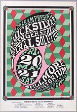 BG 7 Bill Graham Fillmore Poster, 1st printing. Quicksilver, 1966. Wes Wilson